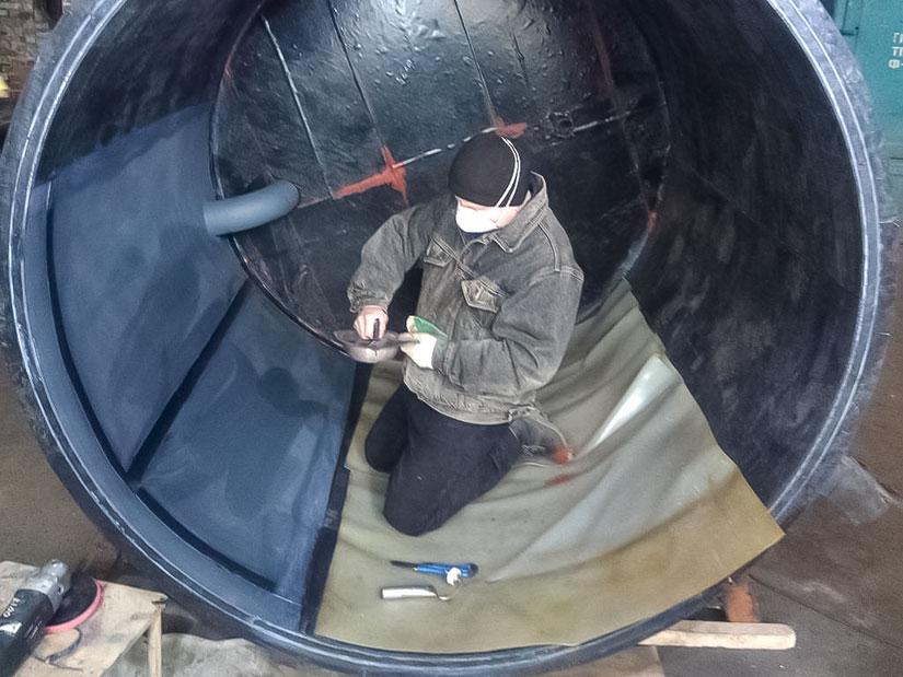 Гуммирование емкостей на заводе УЗРО